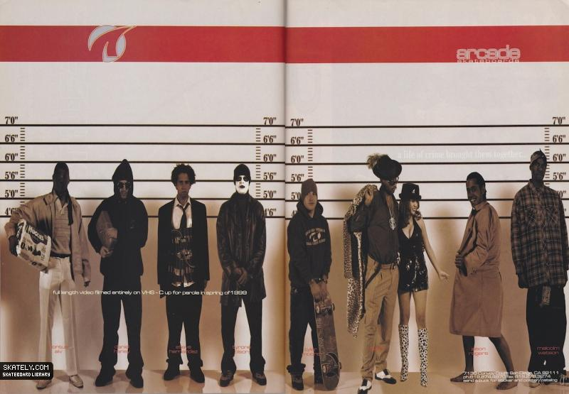 arcade-skateboards-police-lineup-wall-1999
